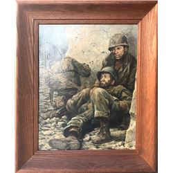 Harry Schaare, Escape from Taejon (Army), Oil Painting