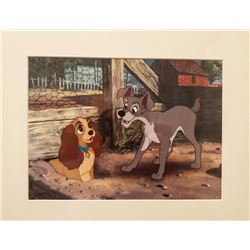 Disney, Ever Chase Chickens - Lady and the Tramp, Offset Lithograph