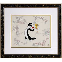 Warner Brothers, Sylvester and Tweety Drawings, Hand Painted Production Cel