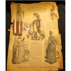 The Season Lady's Illustrated Magazine October, 1885; 1959 P & 60 P Large Date BU Rolls of Lincoln C