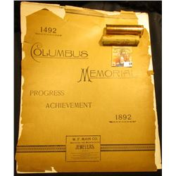 """1492 1892 Columbus Memorial Progress Achievement with black and white photos of """"Entrance to Fisheri"""