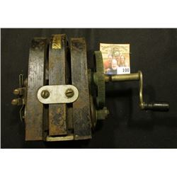 Hand crank Generator for an old Wall Telephone (also used for fishing at times). Maybe froze up, but
