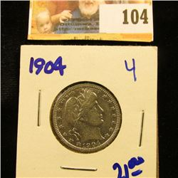 1904 SEATED LIBERTY QUARTER WITH FULL LIBERTY VISIBLE