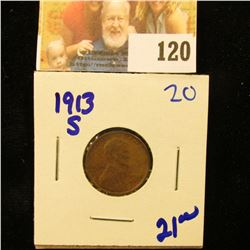 BETTER DATE 1913-S WHEAT PENNY
