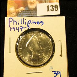 1947-S PHILLIPINES SILVER HALF DOLLAR WITH MCARTHUR ON IT