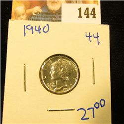 BEAUTIFUL 1940 MERCURY DIME.  THIS ONE IS A STUNNER