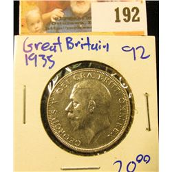 1935 SILVER FLORIN FROM GREAT BRITAIN