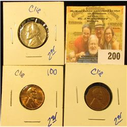 3 ERROR COINS WITH CLIPPED PLANCHETT