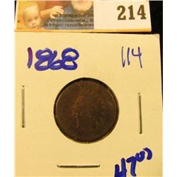 1868 SEMI KEY DATE INDIAN HEAD PENNY