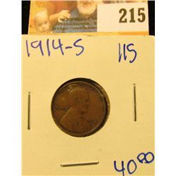 1914-S SEMI KEY DATE WHEAT PENNY