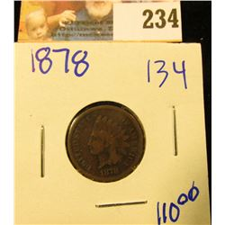 1878 SEMI KEY DATE INDIAN HEAD PENNY