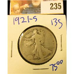 KEY DATE 1921-S WALKING LIBERTY HALF DOLLAR