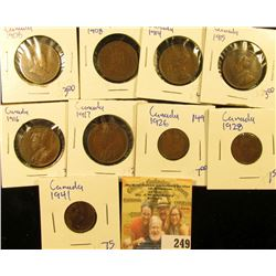 CANADIAN PENNY LOT INLUDES SMALL AND LARGE PENNIES INCLUDES THESE DATES 1916, 1914, 1906, 1915, 1917