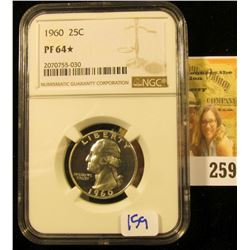1940 WASHINGTON QUARTER GRADED PROOF 64 WITH A STAR DENOTATION BY NGC.  THE STAR DENOTES SUPERIOR EY