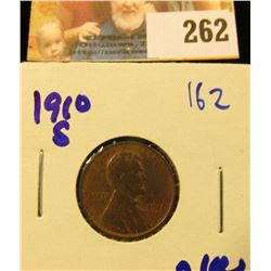 1910-S SEMI KEY DATE WHEAT PENNY