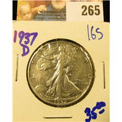 1937-D WALKING LIBERTY HALF DOLLAR