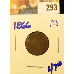 1866 SEMI KEY DATE INDIAN HEAD PENNY