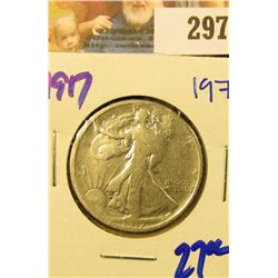 1917 EARLY DATE WALKING LIBERTY HALF DOLLAR