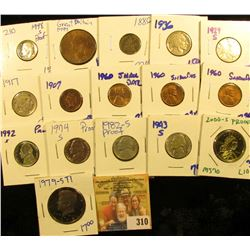 HODGE PODGE LOT INCLUDES 1979-S TYPE 1 PROOF KENNEDY HALF DOLLAR, 2000-S PROOF SACAGAWEA DOLLAR, SHA