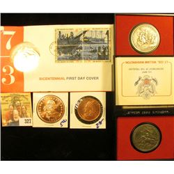 AMERICAN REVOLUTIONARY BICENTENNIAL FIRST DAY COVER AND MEDAL SET, LT COLONEL WILLIAM WASHINGTON  ME
