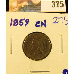 1859 INDIAN HEAD PENNY WITH ALL THE LETTERS IN LIBERTY VISIBLE