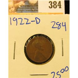 1922-D SEMI KEY DATE WHEAT PENNY