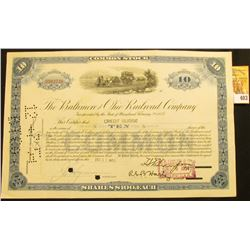 "Rare Stock Certificate issued to ""Credit Suisse"" for Ten Shares of ""The Baltimore and Ohio Railroad"