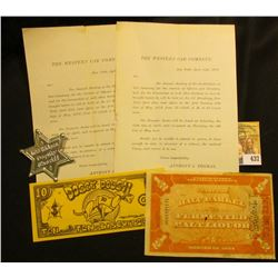 "Pair of 1878-1879 ""The Western Car Company, New York"" letters to Stock holders; ""Lee Riders Deputy S"