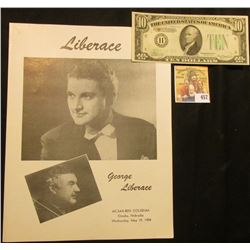 "May 19, 1954 Program Ak-Sar-Ben Coliseum, Omaha, Nebraska ""George Liberace""; & Series 1934A Ten Doll"