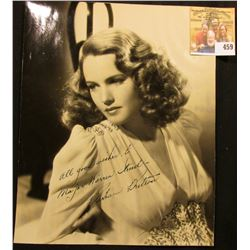 "Black & White 7"" x 9"" Autographed Photo of Barbara Britton (September 26, 1919 – January 17, 1980) w"