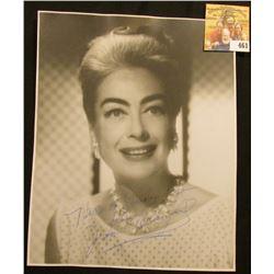 "7 1/2"" x 9"" Autographed black and white photo of Joan Crawford. ""Hello to Judy Lynn from Joan Crawfo"