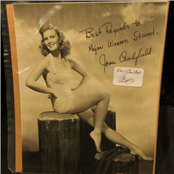 "7 1/2"" x 9"" Autographed black and white photo of Beatrice Joan Caulfield (June 1, 1922 – June 18, 19"