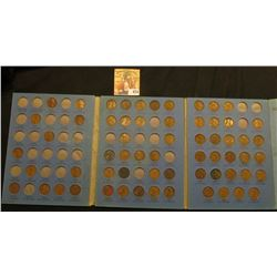 1909-40 Partial Set of Lincoln Cents in a blue Whitman folder.