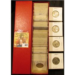 "9"" x 2"" x 2"" Coin Stock Box full of coins, some foreign but mostly quarters dating 1966-1997. At lea"