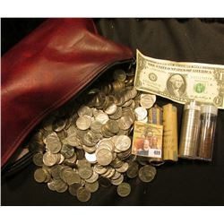 "Over $40 face value in U.S. Coins in a Bloomfield, Iowa ""Davis County Savings Bank"" Zipper money bag"