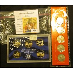 2005 S Proof Statehood Quarter Proof Set in original plastic case & 2000 BU Statehood Quarter Set in