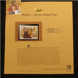 2003 Illinois Waterfowl $10.00 Stamp, mint, unused with original literature mounted in a plastic pag