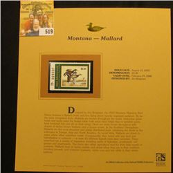 2003 Montana Waterfowl $5.00 Stamp, mint, unused with original literature mounted in a plastic page.