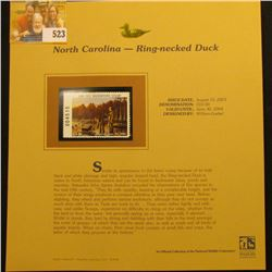 2003 North Carolina Waterfowl $10.00 Stamp, mint, unused with original literature mounted in a plast
