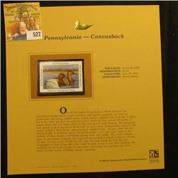 2003 Pennsylvania Waterfowl $5.50 Stamp, mint, unused with original literature mounted in a plastic