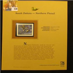 2003 South Dakota Waterfowl $3.00 Stamp, mint, unused with original literature mounted in a plastic