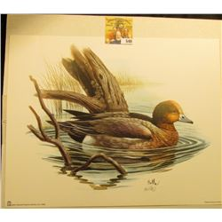 "2001 Fleetwood hand autographed print of a Ducks by Don Balke, 10.5"" x 13.25""."