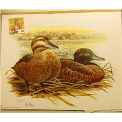 2004 Fleetwood hand autographed print of a pair of Ducks (I thought I was good, but I am not even go