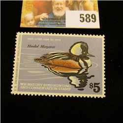 1978 RW 45 Federal Migratory Bird Hunting $5 Stamp, unsigned, original gum, NH.