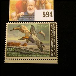 1982 RW 49 Federal Migratory Bird Hunting $7.50 Stamp, unsigned, original gum, NH, VF.