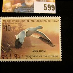 1988 RW 55 Federal Migratory Bird Hunting $10.00 Stamp, unsigned, original gum, NH, VF.