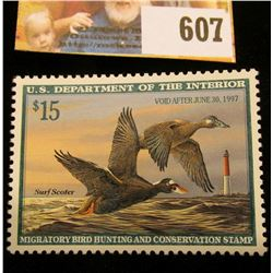 1996 RW 63 Federal Migratory Bird Hunting $15.00 Stamp, unsigned, original gum, NH, VF.