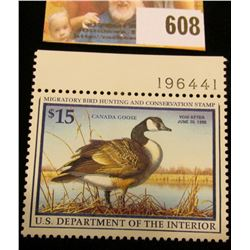 1997 RW 64 Federal Migratory Bird Hunting $15.00 Stamp, unsigned, original gum, NH, VF. Plate number