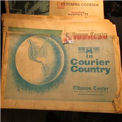 "1972 Ottumwa Courier ""Inventory"" Edition; 1941 ""Ottumwa Daily Courier"" depicting an aerial view of t"