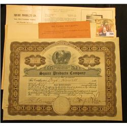 Several pieces of 1921 correspondence with First National Bank of Minneapolis, Minnesota and a 1921